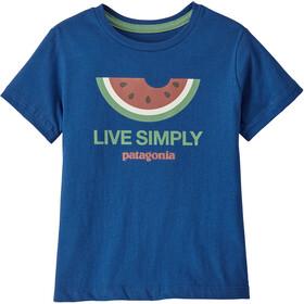 Patagonia Live Simply Organic Camiseta Niños, azul